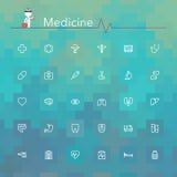 Medicinlinje symboler Royaltyfri Foto