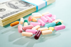 medicinpengar Royaltyfri Bild