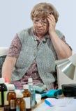 medicinpensionär Royaltyfria Bilder