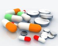 medicinpill Royaltyfri Bild