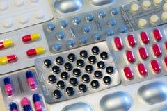 Medicinpreventivpillerar arkivfoton
