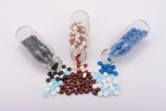 Medicinpreventivpillerarna för behandling Arkivbilder