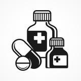 Medicinpreventivpillersymboler Fotografering för Bildbyråer