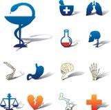 medicinset för symboler 92a stock illustrationer