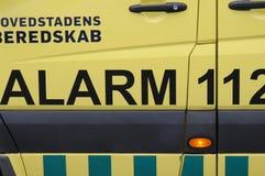 MEDICINSK AMBULANS OCH LARM 112 Royaltyfri Bild