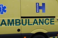 MEDICINSK AMBULANS OCH LARM 112 Royaltyfri Foto