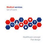 Medicinsk analys, årlig kontroll upp, sjukförsäkringbegrepp, sjukhusvård Fotografering för Bildbyråer