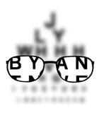 Medicinsk bakgrund för Optometry vektor illustrationer