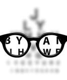 Medicinsk bakgrund för Optometry stock illustrationer
