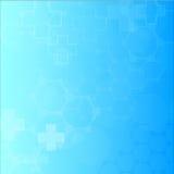 Abstrakt molekylläkarundersökningbakgrund Royaltyfria Bilder