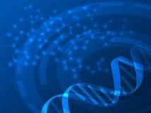 Medicinsk bakgrund för DNAvektor Royaltyfria Bilder
