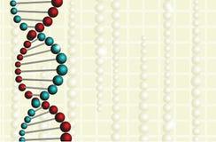 Medicinsk bakgrund med DNA Arkivfoton