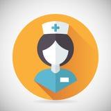 Medicinsk behandlingsjuksköterska Symbol Female Physician stock illustrationer
