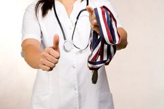 medicinsk belöning Arkivbilder