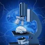 medicinsk bild som 3D visar alzheimersforskning royaltyfri illustrationer