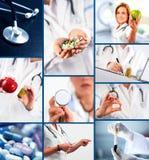 Medicinsk collage Arkivfoton