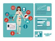 Medicinsk design stock illustrationer