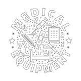 Medicinsk diagnostik, begrepp för grafisk design för undersökning vektor illustrationer