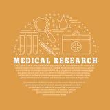 Medicinsk diagnostik, begrepp för grafisk design för undersökning Royaltyfri Fotografi