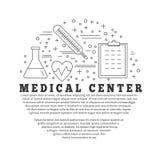 Medicinsk diagnostik, begrepp för grafisk design för undersökning Royaltyfria Bilder