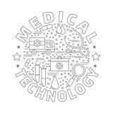 Medicinsk diagnostik, begrepp för grafisk design för undersökning Royaltyfria Foton