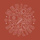 Medicinsk diagnostik, begrepp för grafisk design för undersökning Arkivbild