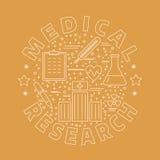 Medicinsk diagnostik, begrepp för grafisk design för undersökning royaltyfri illustrationer