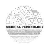 Medicinsk diagnostik, begrepp för grafisk design för undersökning stock illustrationer