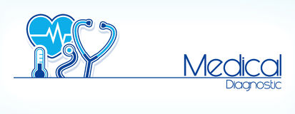 Medicinsk diagnostiklägenhetdesign Arkivfoto