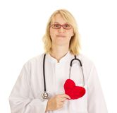 Medicinsk doktor med hjärta Arkivfoto