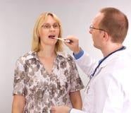 Medicinsk doktor och tålmodig Arkivbild