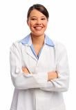Medicinsk doktor som isoleras i studio Arkivfoto
