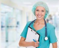 Medicinsk doktorskvinna arkivbilder