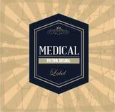 Medicinsk etikett Fotografering för Bildbyråer