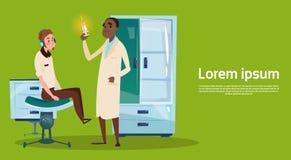 Medicinsk för arbetsplatssjukhus för doktor Examinig Patient Clinic inre omsorg för medicin stock illustrationer