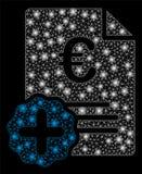 Medicinsk faktura för ljust euro för ingrepp 2D med signalljusfläckar royaltyfri illustrationer