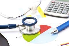 Medicinsk finansiell analys Fotografering för Bildbyråer