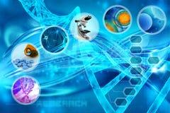medicinsk forskning vektor illustrationer