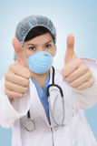 medicinsk framgångskvinna Royaltyfri Fotografi