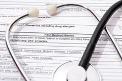 Medicinsk försäkring Fotografering för Bildbyråer