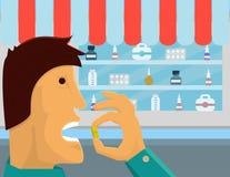 Medicinsk illustration för drogförbrukningsvektor Arkivfoto