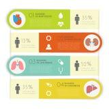 Medicinsk Infographic uppsättning också vektor för coreldrawillustration Fotografering för Bildbyråer