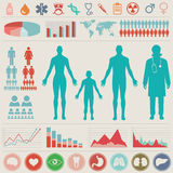 Medicinsk Infographic uppsättning Royaltyfria Foton