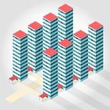 Medicinsk isometrisk byggnad - höghuslägenhet Royaltyfria Bilder