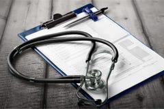 Medicinsk kontrollista arkivfoto