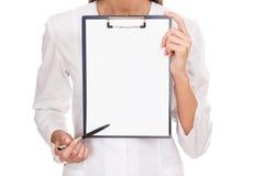 Medicinsk kvinnlig doktor royaltyfria foton