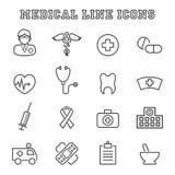 Medicinsk linje symboler Royaltyfri Fotografi