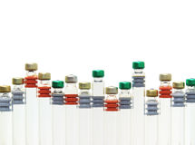Medicinsk liten medicinflaska Arkivfoton