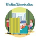 Medicinsk mall för diagnostiskt tillvägagångssätt för ultraljud royaltyfri illustrationer