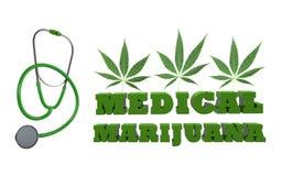 Medicinsk marijuana stock illustrationer